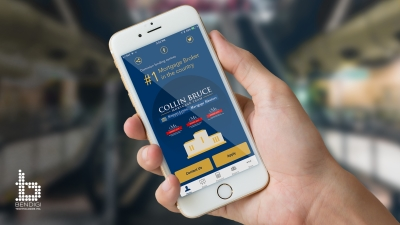 Picture of New Phone App for Collin Bruce's Mortgage Brokerage Iphone 5